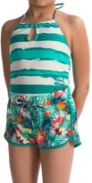 Big Chill Swimsuit and Swim Short Set (For Little Girls)
