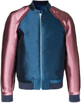 Private Policy - raw edge bomber jacket - men - Silk/Wool - M