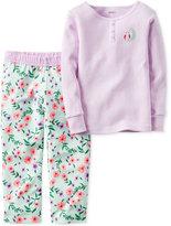 Carter's 2-Pc. Stripes & Flowers Pajama Set, Baby Girls'