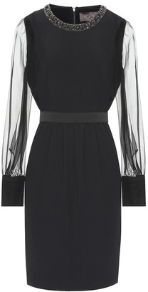 Max Mara Aurelia embellished crepe dress