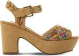 Steve Madden Bonnie embroidered platform sandals
