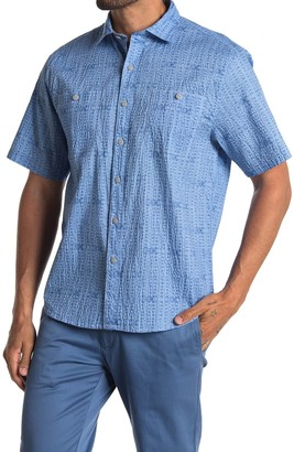 Tommy Bahama Breeze Block Geo Short Sleeve Seersucker Shirt
