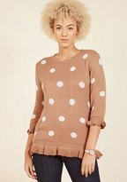 Filled With Frill Polka Dot Sweater in L