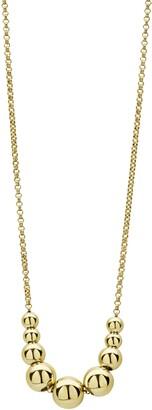 Lagos Caviar Gold Graduated Bead Chain Necklace