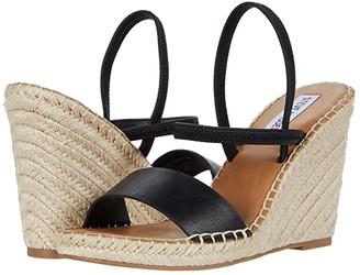 Steve Madden McKenzie Wedge Sandal (Black) Women's Shoes