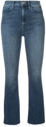 Mother Hustler Ankle-Fray Jeans