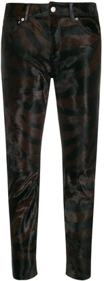 Golden Goose Zebra Cropped Trousers