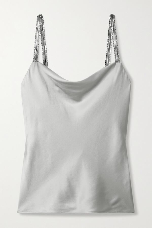 Thumbnail for your product : CAMI NYC Felicity Crystal-embellished Silk-blend Charmeuse Camisole