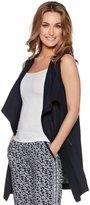 M&Co Sleeveless linen duster jacket