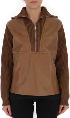 Prada Ribbed Zip Sweater