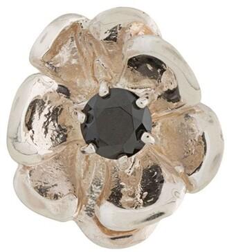 E.m. crystal stud flower earring