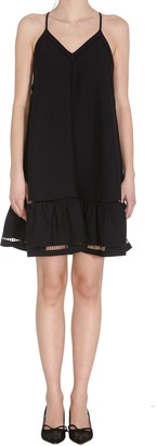 RED Valentino Envers Satin Crepe Dress With Embroidery