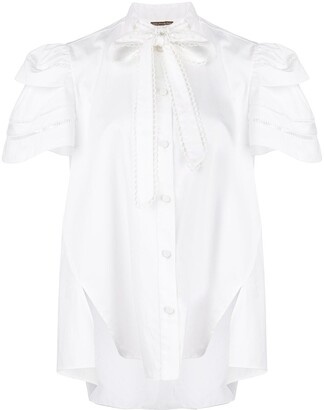 Adam Lippes Embroidered Trim Trapeze Top