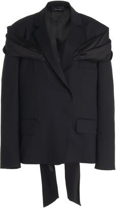 Simone Rocha Oversized Stretch-Wool Jacket
