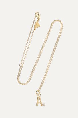 Alison Lou Letter 14-karat Gold Diamond Necklace - W