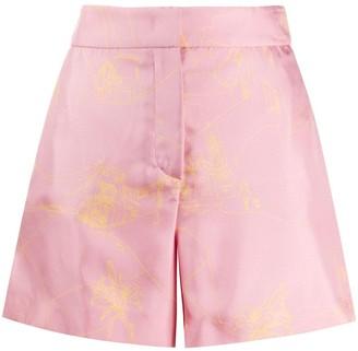 Emilio Pucci Scorci Fiorentini print silk shorts