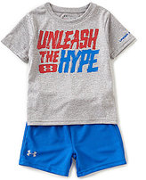 Under Armour Baby Boys 12-24 Months Unleash The Hype Short-Sleeve Tee & Solid Shorts Set