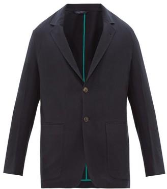 Paul Smith Single Breasted Wool Blazer - Mens - Navy