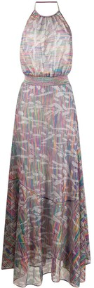 Missoni Halterneck Striped Maxi-Dress