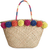 INC International Concepts Livie Pom Straw Tote, Only at Macy's