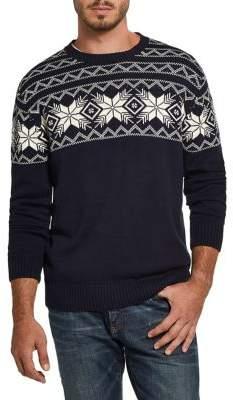 Weatherproof Vintage Fair Isle Snowflake Sweater