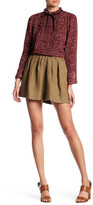 Maje Woven Linen Skirt