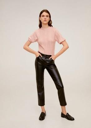 MANGO Openwork knit sweater pastel pink - XS - Women