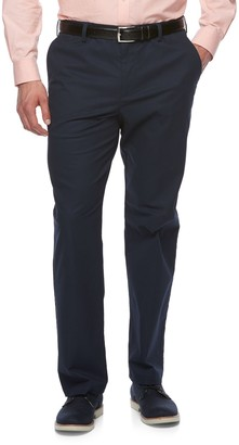 Croft & Barrow Big & Tall Classic-Fit Easy-Care Stretch Flat-Front Khaki Pants