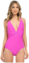 Athena Cabana Solids Soft Cup Cross One-Piece