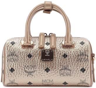 MCM Logo Printed Double Handle Bag