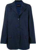 Erika Cavallini - buttoned blazer coat - women - Polyester/Spandex/Elastane/Wool - One Size