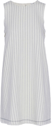 alexanderwang.t Frayed Pinstriped Cotton Mini Dress