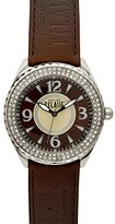 Alviero Martini Prima Classe Women's PCD 924S/UU Stainless Steel Brown and Beige Dial Crystal Watch