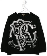 Roberto Cavalli logo embroidered jumper - kids - Wool - 4 yrs