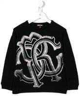 Roberto Cavalli logo embroidered jumper
