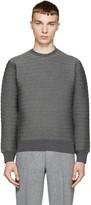 John Lawrence Sullivan Johnlawrencesullivan Grey Quilted Neoprene Sweatshirt