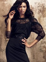 Sheer lace top with cami