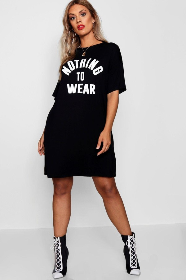 boohoo Plus Nothing To Wear T Shirt Dress