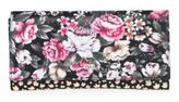 Alexander McQueen Floral-Print Leather Travel Wallet