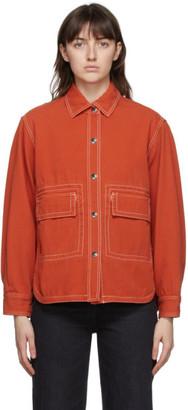 Kenzo Orange Overdyed Military Shirt