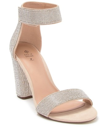 Call it SPRING Walheim Embellished Block Heel Sandal