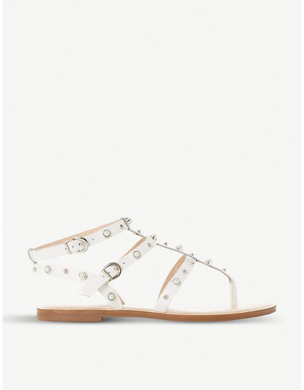 Dune Natascha stud-embellished leather sandals