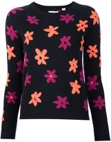 Chinti and Parker flower intarsia jumper