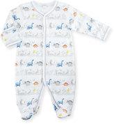 Kissy Kissy Jurassic Journey Printed Footie Pajamas, Gray, Size 0-9 Months