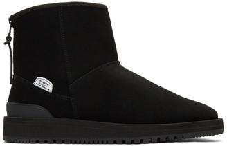 Suicoke Black Sherpa ELS-M Ankle Boots