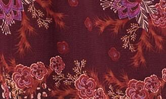 Love Stitch Boho Floral V-Neck Mini Dress