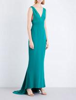 Diane von Furstenberg V-neck silk gown