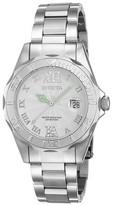 Invicta Women's 14790 Pro Diver Quartz 3 Hand White Dial Link Watch - Silver