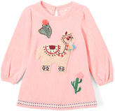 Baby Sara Pink Llama A-Line Dress