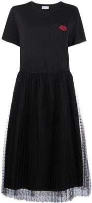 RED Valentino Tulle-Skirt Mid-Length Dress